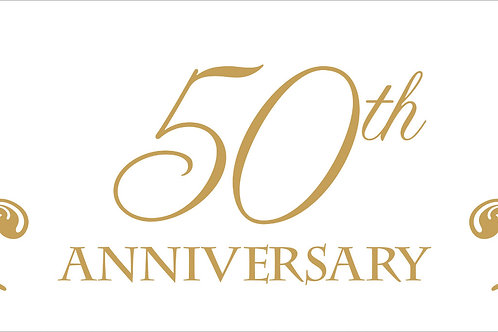 50th Anniversary Giant Banner