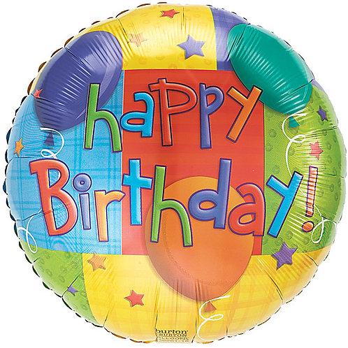 """Balloon Foil 18"""" Happy Birthday Cube Balloon"""