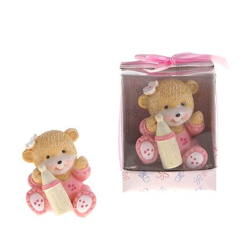 Favor Bear In Pajama Pink