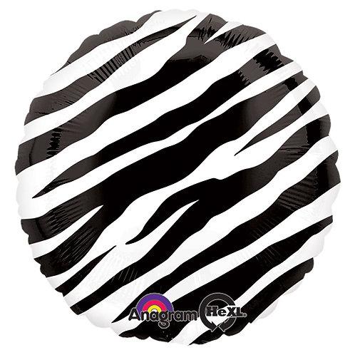 "Balloon Foil 18"" Black Zebra"