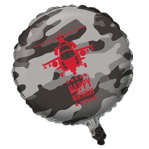 "Army Metallic Balloon 18"""