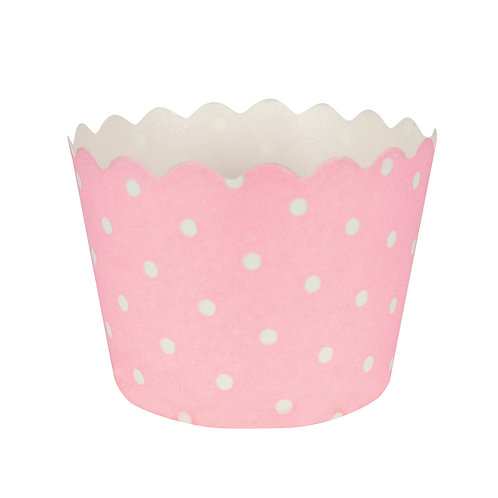 Baking Cups Polka Dot Bake Cup - Classic Pink (12 ct)