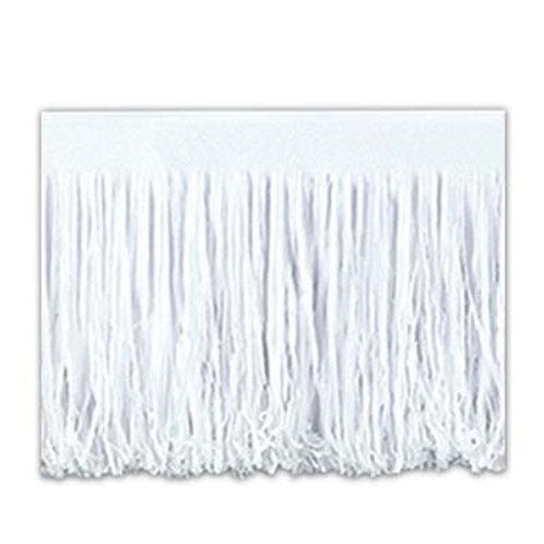 White Fringed Tissue Drape