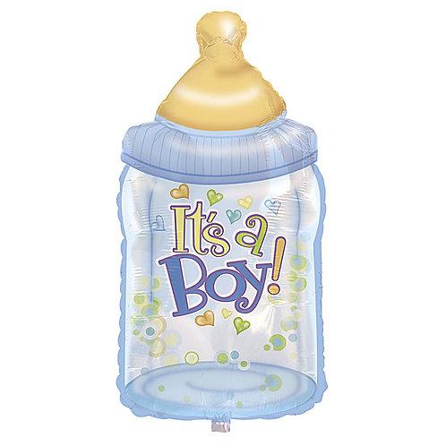 "Balloon Foil 38"" Blue Bottle"