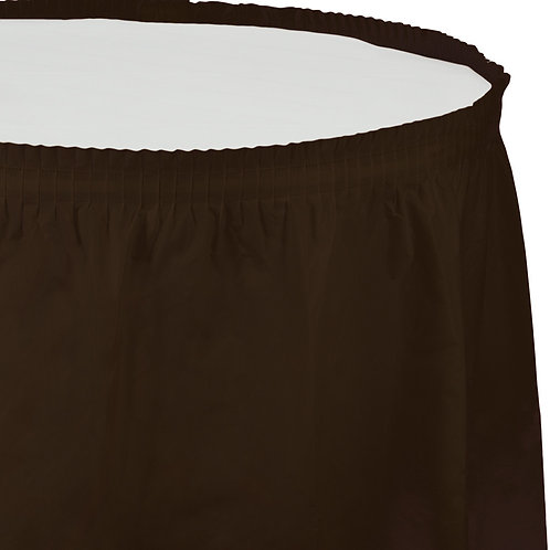 "Chocolate Brown Tableskirt  14'X29"""