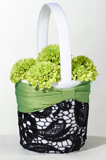 Wedding Basket Green & Black