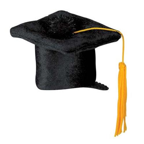 Black Graduation Cap Hair Clip