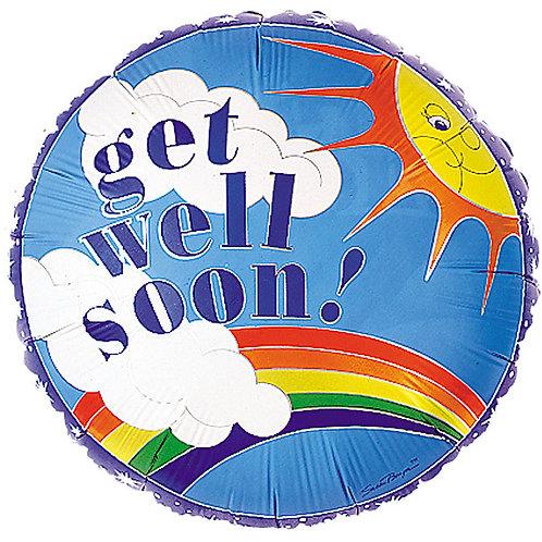 "Balloon Foil 9"" Get Well Soon Sun Rain"