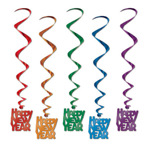Assorted Happy New Year Hanging Whirls