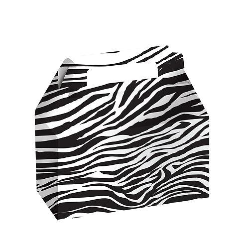 Wild At One Zebra Cookie Candy Box, Zebra (2Ct)