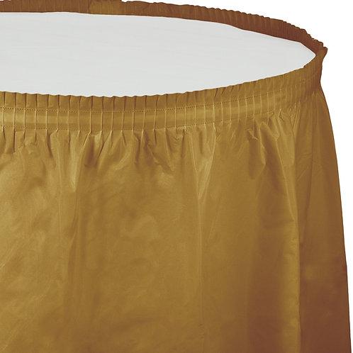 """Gold Glittering Tableskirt  14'X29"""""""
