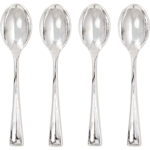 Trendware Spoons Mini Silver 24Ct