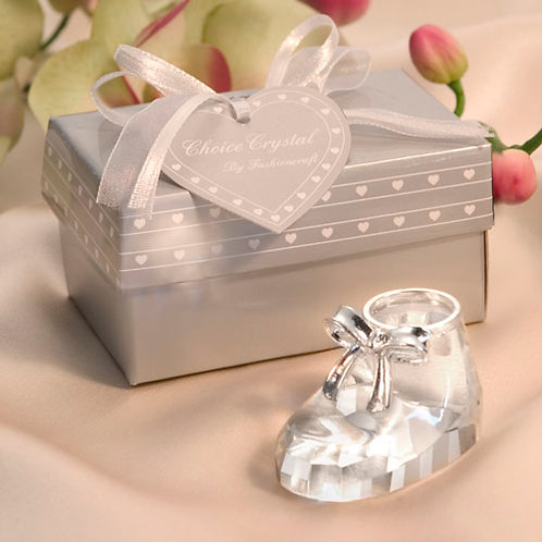 Favor Crystal Baby Shoe