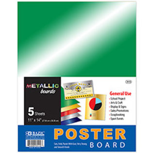 "11"" X 14"" Metallic Poster Board (5/Pack)"
