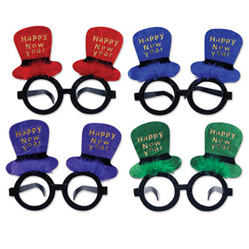 Assorted Happy New Year Hat Glasses