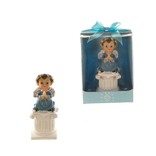 Favor Baby Pray On Stool Blue