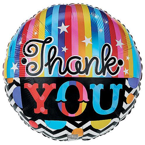 "Balloon Foil 18"" Thank You"