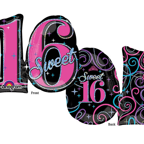 "Balloon Foil 28"" Sweet 16"