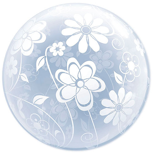 "Balloon Foil 20"" Floral Pattern"