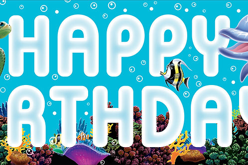 Ocean Party Party Banner