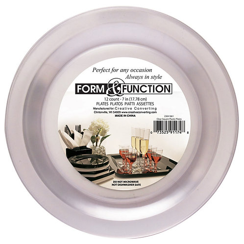 """Clear Plate 7"""""""
