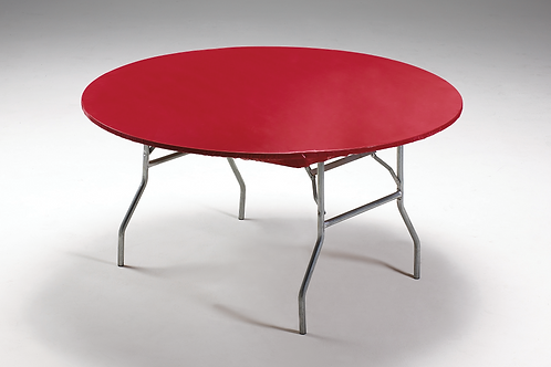 "Real Red Tablecover Stay Put 60"" Round"