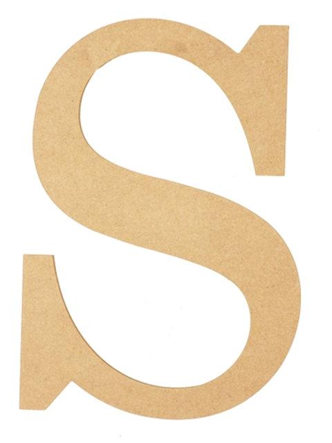 "Wooden 10"" Letter 'S'"