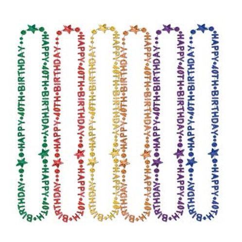 40th Birthday Beads