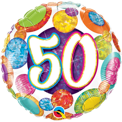 "Balloon 18"" Foil 50th Birthday"