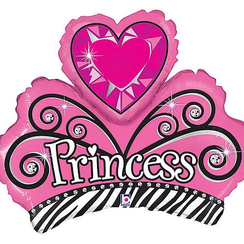 "Balloon Foil 14"" Tiara Princess"