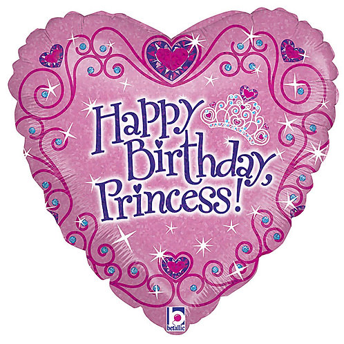 "Balloon Foil 18"" Happy Birthday Heart"