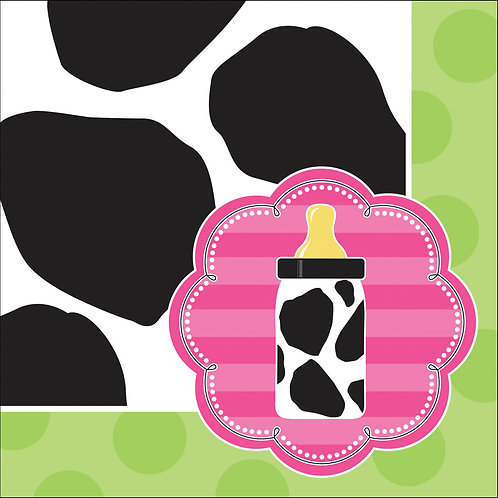 Cow Print Girl Beverage Napkin (16ct)