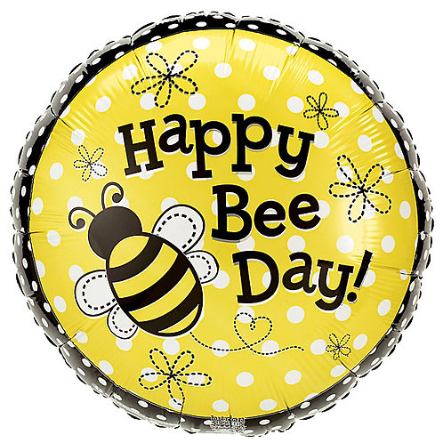"""Balloon Foil 18"""" Happy Bee Day"""