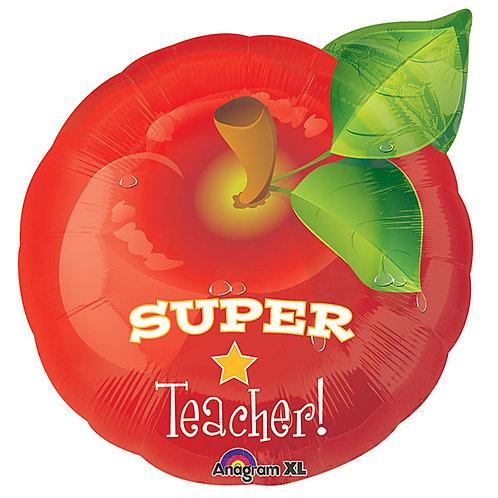 """Balloon 18"""" Teacher Apple"""