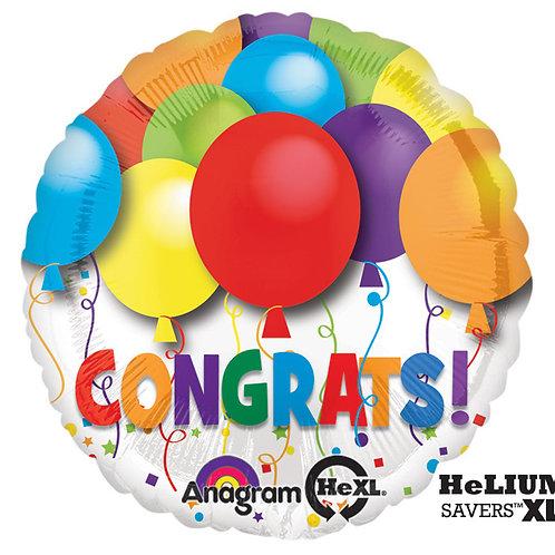 """Balloon Foil 17"""" Congrats Bold"""