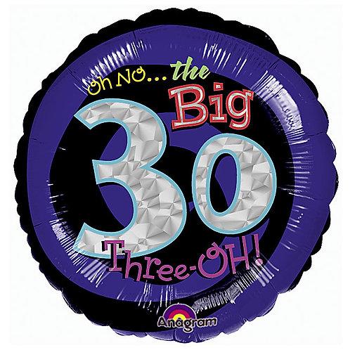 "Balloon Foil 18"" The Big 30"