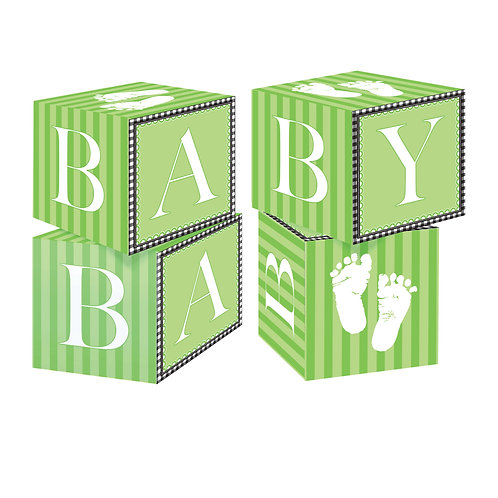 Sweet Baby Feet - Green Centerpiece