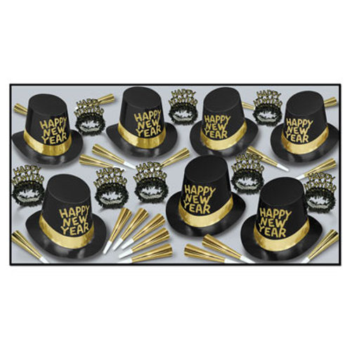 Black and Gold Happy New Years Day Kit