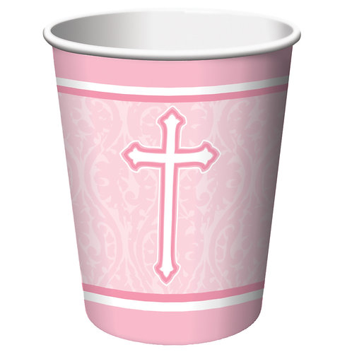 Faith Pink Hot/Cold Cup 9Oz (8Ct)