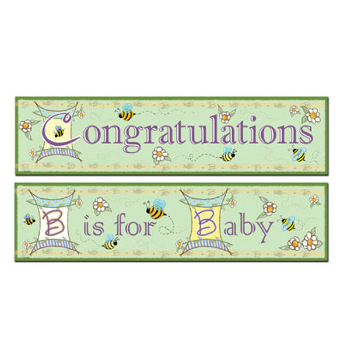 Congratulation Baby Banner 5' 2 Pc