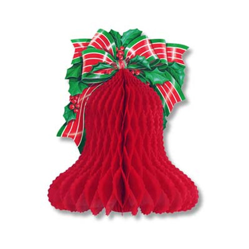 """Christmas Bell With Bow 10"""""""