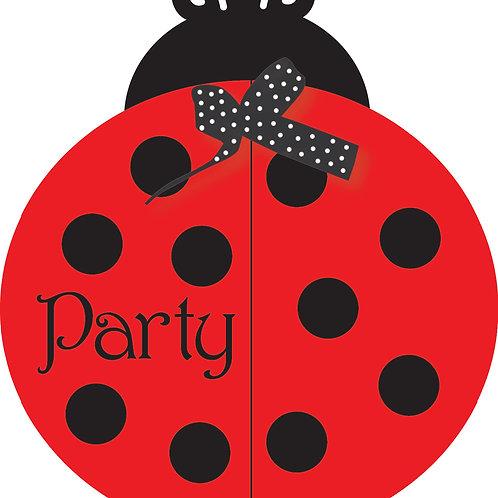 Ladybug Fancy Invitation (8Ct)