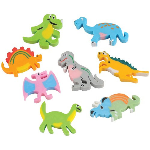 Favor Eraser Dinosaur 12Ct