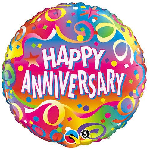 "Balloon Foil 18"" Anniversary Stream"