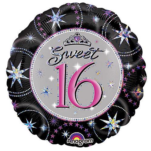 "Balloon Foil 18""  Sweet 16"