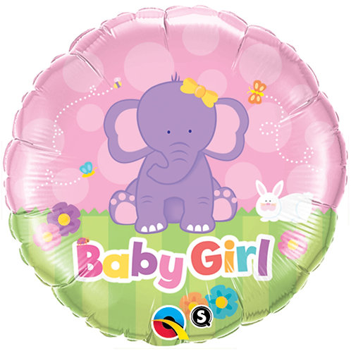 "Balloon Foil 18"" Baby Girl Elephant"