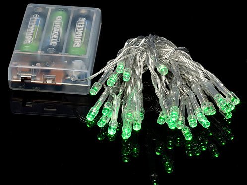 Light Led Mini Battery Operated Green