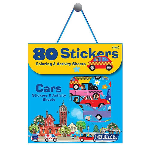 Car Series Assorted Sticker (80/Bag)