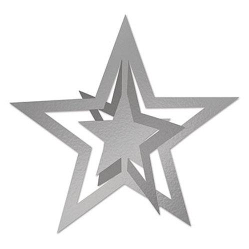 3D Silver Cutout Star