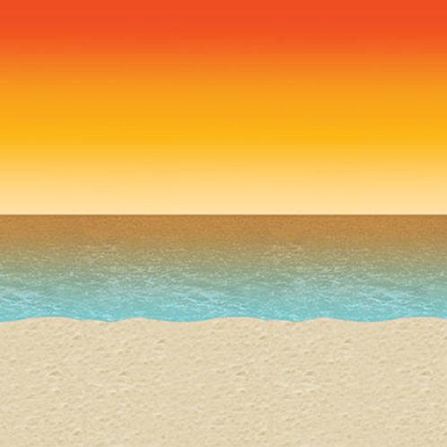 Luau Sunset Backdrop 30'